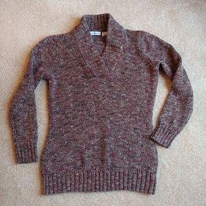 Liz Claiborne gently worn brown & pink sweater